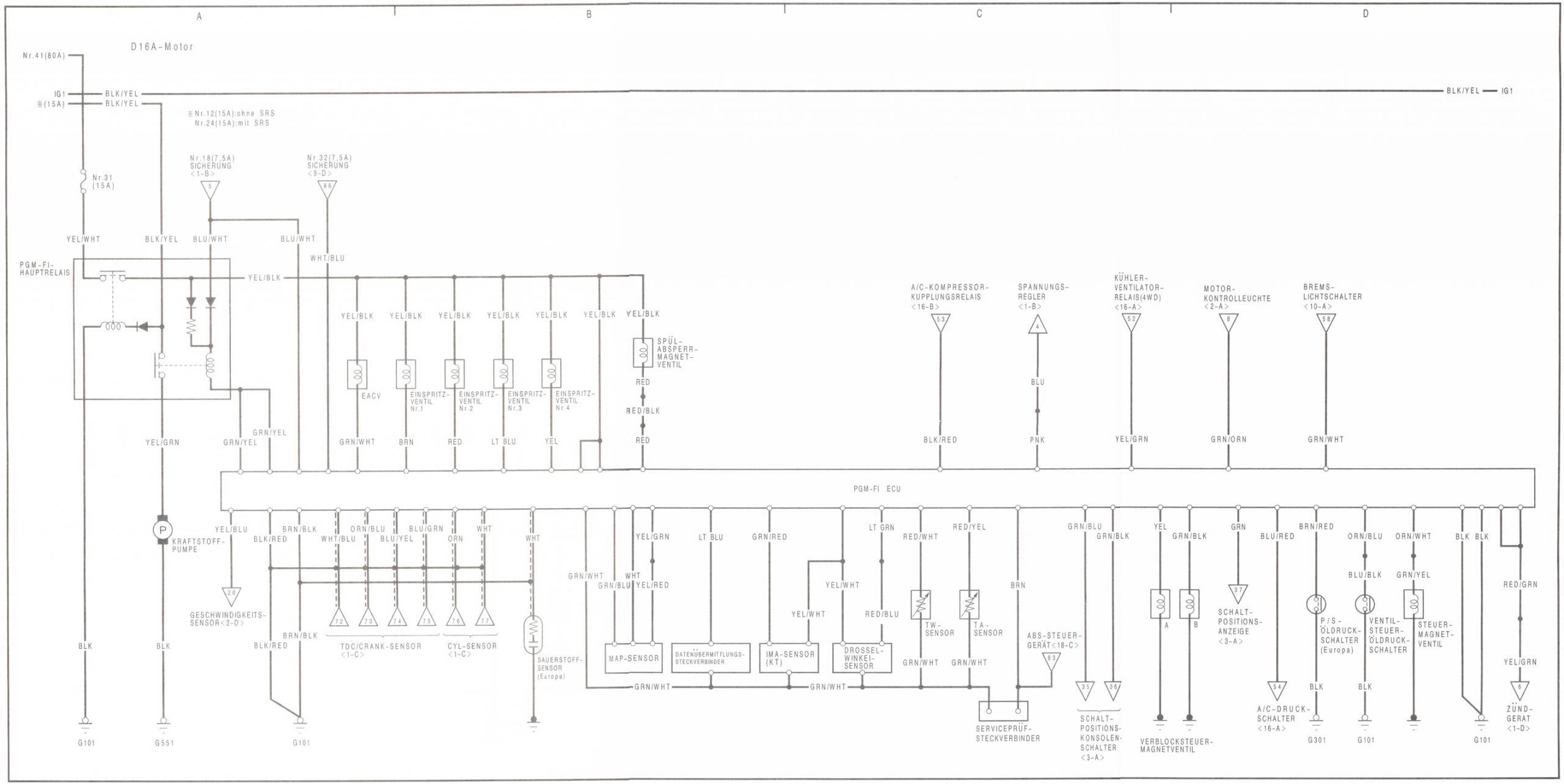 Tolle 1990 Honda Civic Schaltplan Ideen - Der Schaltplan - triangre.info