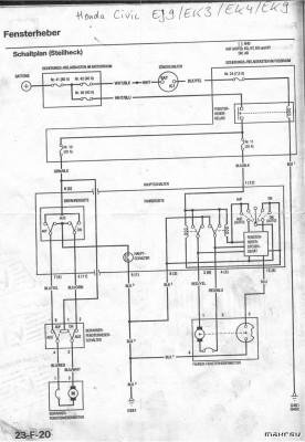 schaltplan f r elektrische fensterheber ej ek hatchback96