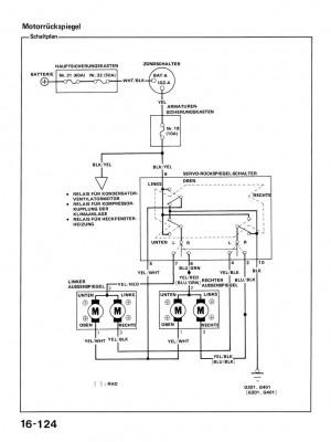 Schaltplan für elektrische Spiegel ED9/EE8 - Forum: CRX
