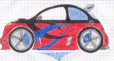 Zeichnet eure autos - Hier noch eine eigene Sonderkreation......