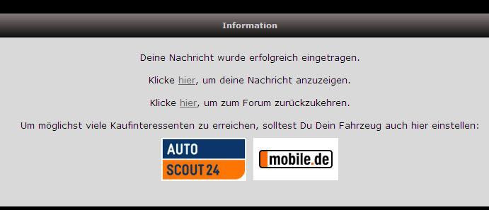 Hinweis Auf Autoscout24 Und Mobilede Na Bild Autoscout24 Mobile
