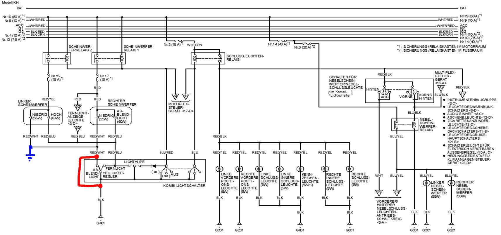 Fernlicht zu schalten Bild - Schaltplan Changed - 380,82 KB - Honda ...