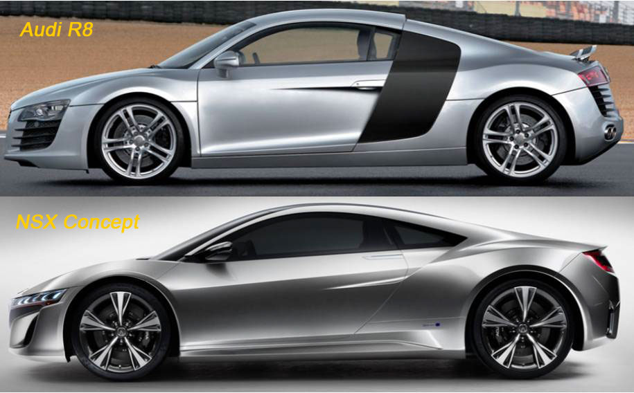 honda nsx audi r8. Black Bedroom Furniture Sets. Home Design Ideas