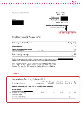Telekomrechnung Online