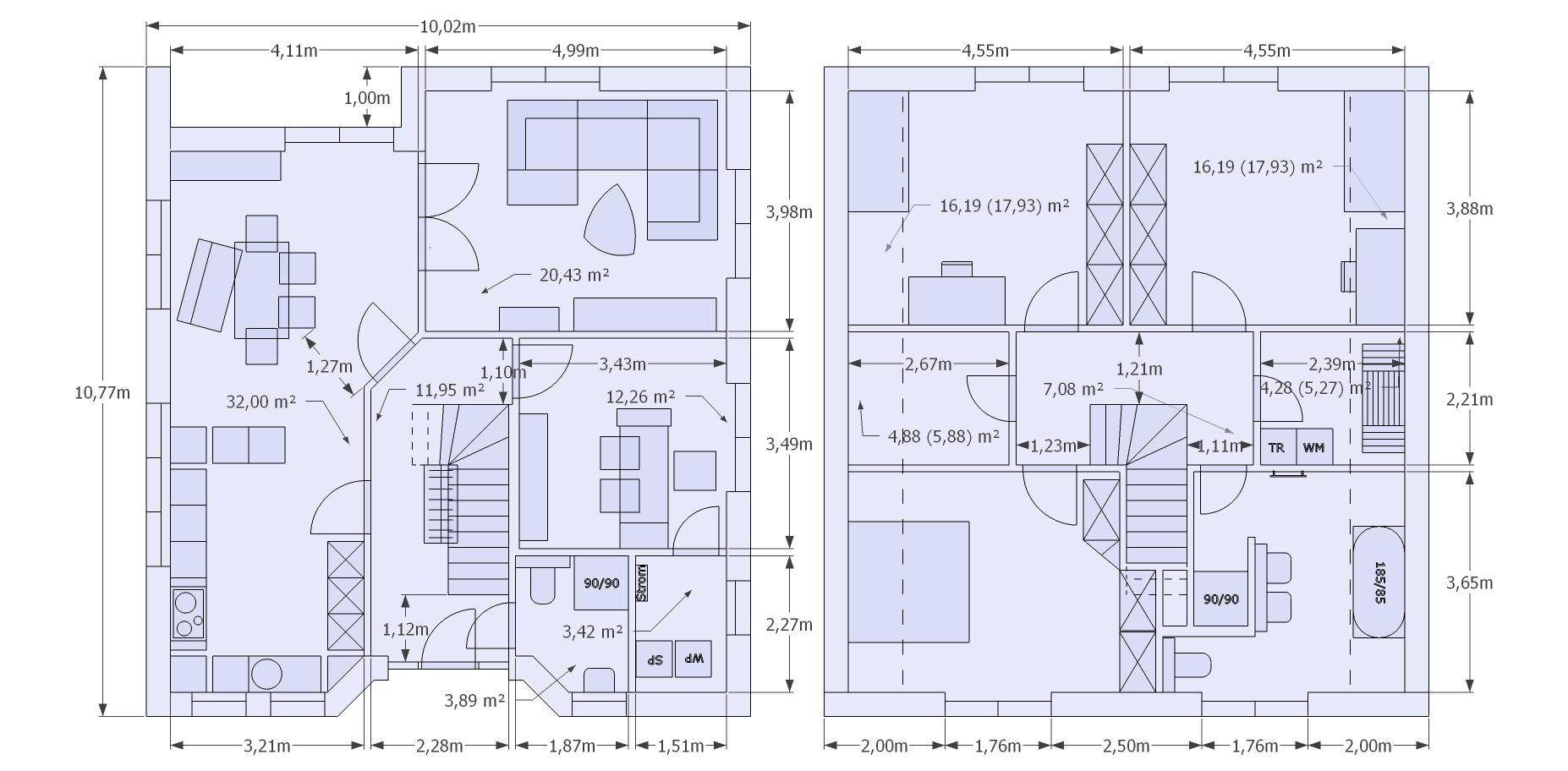 haus grundrisse welchen findet ihr besser sehr gut und von der. Black Bedroom Furniture Sets. Home Design Ideas