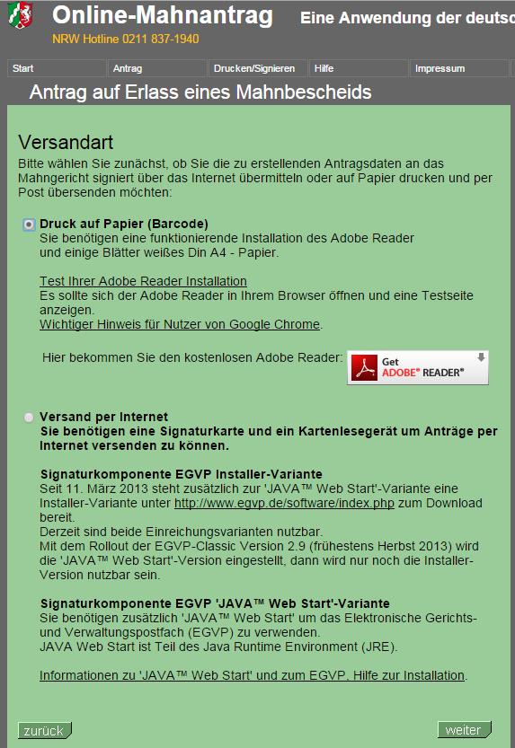 2014 12 15 17 05 32 Online Mahnantrag Ihr Mahnbescheid Antrag Im