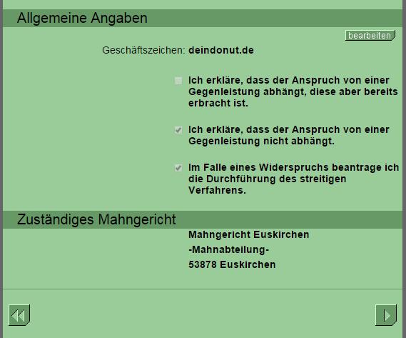 2014 12 15 19 15 14 Online Mahnantrag Ihr Mahnbescheid Antrag Im