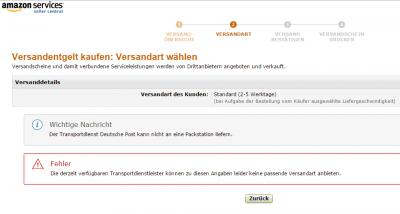 transportdienst deutsche post amazon