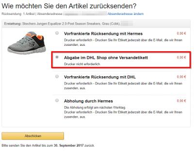 Amazon Abgabe Im Dhl Shop Ohne Versandetikett Forum