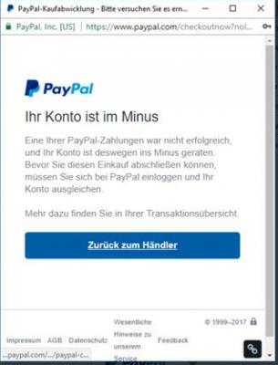 Paypal Konto Im Minus Wie Ausgleichen