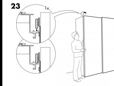 Ikea Hack Platsa Als Samla Regal Mit Pax Schiebeturen Die